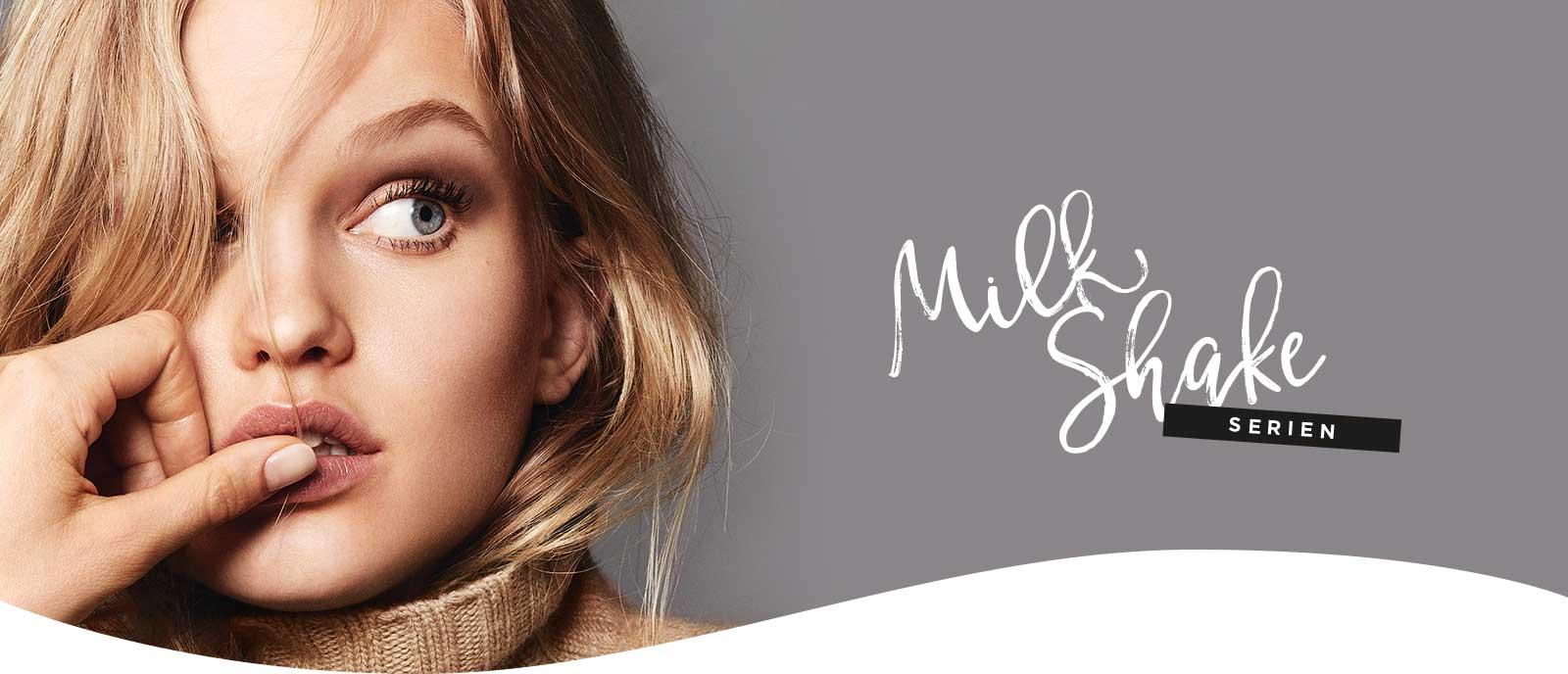 Milkshake-serien med modell och logotyp